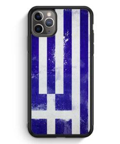 iPhone 11 Pro Max Silikon Hülle - Griechenland Grunge Greece Hellas