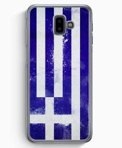 Samsung Galaxy J6+ Plus (2018) Hardcase Hülle - Griechenland Grunge Greece Hellas