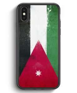 iPhone X & iPhone XS Silikon Hülle - Jordanien Grunge Jordan