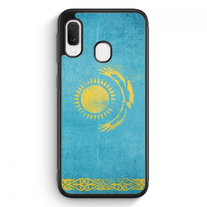 Samsung Galaxy A20e Silikon Hülle - Kasachstan Grunge Kazakhstan Qasaqstan