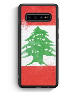 Samsung Galaxy S10 Silikon Hülle - Libanon Grunge Lebanon