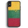 iPhone X & iPhone XS Silikon Hülle - Litauen Lithuania Grunge Lietuva
