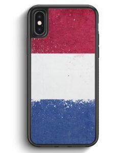 iPhone X & iPhone XS Silikon Hülle - Niederlande Holland Grunge Netherlands
