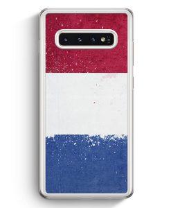 Samsung Galaxy S10+ Plus Hardcase Hülle - Niederlande Holland Grunge Netherlands