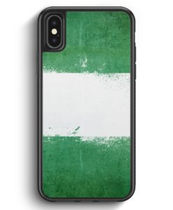 iPhone X & iPhone XS Silikon Hülle - Nigeria Grunge