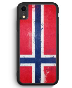 iPhone XR Silikon Hülle - Norwegen Grunge Norway Norge