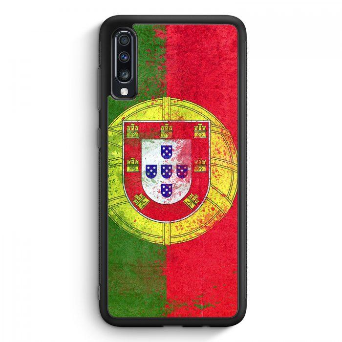 Samsung Galaxy A70 Silikon Hülle - Portugal Grunge