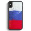 iPhone X & iPhone XS Silikon Hülle - Russland Grunge Russia Rossija
