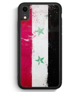 iPhone XR Silikon Hülle - Syrien Grunge