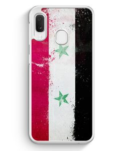 Samsung Galaxy A20e Hardcase Hülle - Syrien Grunge