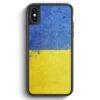 iPhone X & iPhone XS Silikon Hülle - Ukraine Grunge Ukrajina