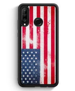 Huawei P30 Lite Silikon Hülle - USA Grunge Vereinigte Staaten von Amerika United States of America