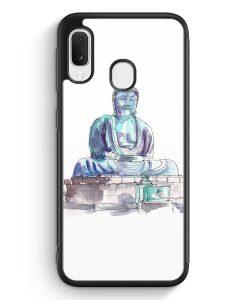 Samsung Galaxy A20e Silikon Hülle - Amida Buddha