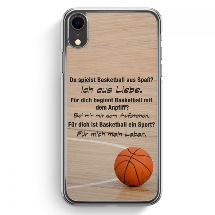 iPhone XR Hardcase Hülle - Basketball Liebe