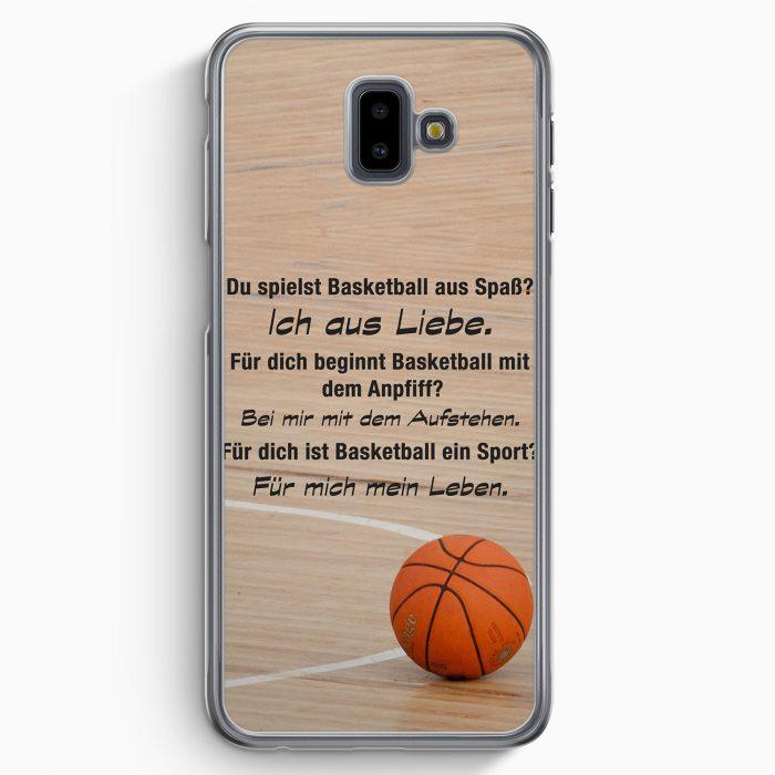 Samsung Galaxy J6+ Plus (2018) Hardcase Hülle - Basketball Liebe
