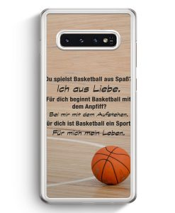 Samsung Galaxy S10+ Plus Hardcase Hülle - Basketball Liebe