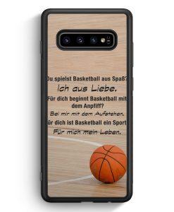 Samsung Galaxy S10 Silikon Hülle - Basketball Liebe