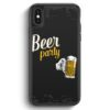 iPhone X & iPhone XS Silikon Hülle - Beer Bier Party