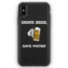 iPhone XS Max Silikon Hülle - Drink Beer