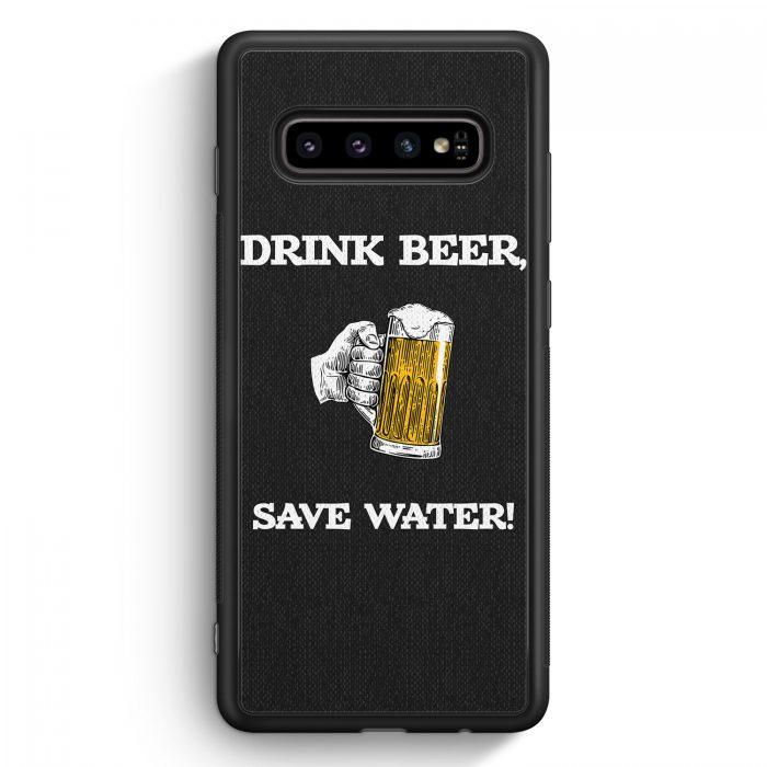 Samsung Galaxy S10 Silikon Hülle - Drink Beer