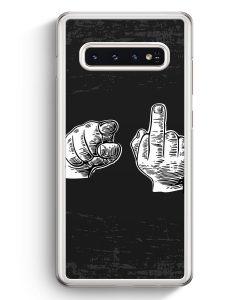 Samsung Galaxy S10+ Plus Hardcase Hülle - Du & Mittelfinger