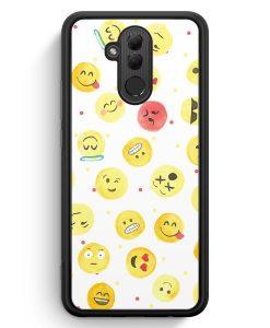 Huawei Mate 20 Lite Silikon Hülle - Emoji Wasserfarben Muster