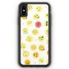 iPhone XS Max Silikon Hülle - Em Wasserfarben Muster