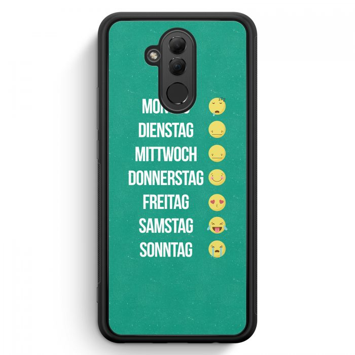 Huawei Mate 20 Lite Silikon Hülle - Emoji Woche