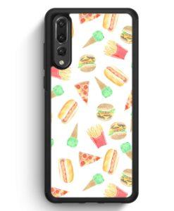 Huawei P20 Pro Hülle Silikon - Fastfood Muster