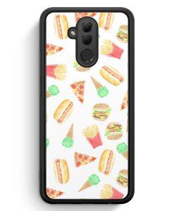 Huawei Mate 20 Lite Silikon Hülle - Fastfood Muster