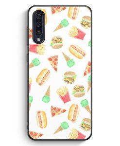 Samsung Galaxy A50 Silikon Hülle - Fastfood Muster