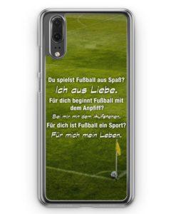 Huawei P20 Hülle Hardcase - Fußball Liebe