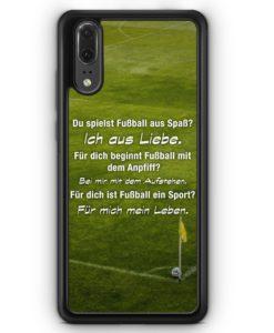 Huawei P20 Hülle Silikon - Fußball Liebe