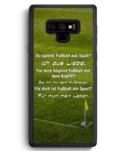 Samsung Galaxy Note 9 Hülle Silikon - Fußball Liebe