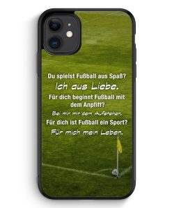 iPhone 11 Silikon Hülle - Fußball Liebe