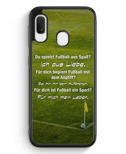 Samsung Galaxy A20e Silikon Hülle - Fußball Liebe