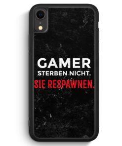 iPhone XR Silikon Hülle - Gamer Sterben Nicht - Sie Respawnen
