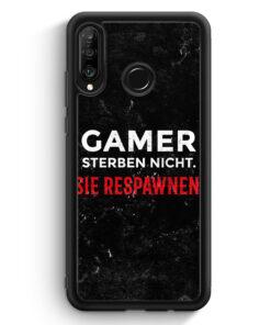 Huawei P30 Lite Silikon Hülle - Gamer Sterben Nicht - Sie Respawnen