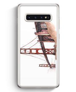 Samsung Galaxy S10+ Plus Hardcase Hülle - Golden Gate Bridge San Francisco USA
