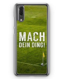 Huawei P20 Hülle Hardcase - Mach dein Ding! Fußball