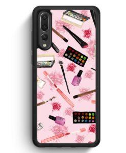 Huawei P20 Pro Hülle Silikon - Kosmetik Make Up Muster