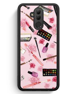 Huawei Mate 20 Lite Silikon Hülle - Kosmetik Make Up Muster