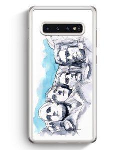 Samsung Galaxy S10+ Plus Hardcase Hülle - Mount Rushmore