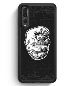 Huawei P20 Pro Hülle Silikon - Nah Frecher Finger