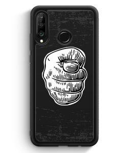Huawei P30 Lite Silikon Hülle - Nah Frecher Finger