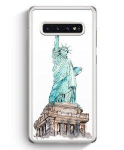 Samsung Galaxy S10+ Plus Hardcase Hülle - Freiheitsstatue New York