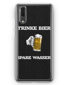 Huawei P20 Hülle Hardcase - Trinke Bier - Spare Wasser