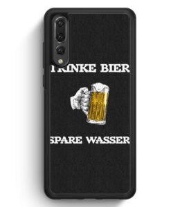 Huawei P20 Pro Hülle Silikon - Trinke Bier - Spare Wasser