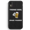iPhone XR Silikon Hülle - Trinke Bier - Spare Wasser