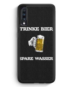 Samsung Galaxy A70 Silikon Hülle - Trinke Bier - Spare Wasser